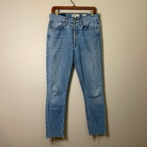 Levi's Re Done High Waisted Distressed Jean